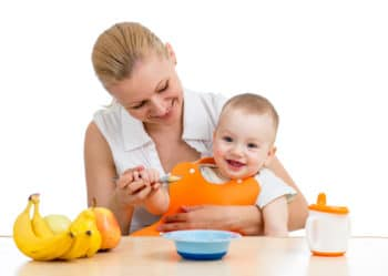 baby has fruits to relieve constipation